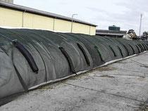 Des filets de protection de silos