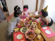 娘5歳のお誕生日会