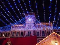 La mairie de Villemur illuminée
