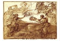 「ペルセウスと珊瑚の出現」のための習作