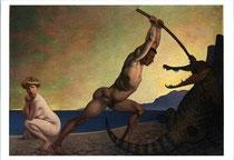 竜を退治するペルセウス