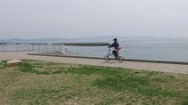 淡路島を見ながら