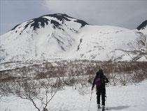 羅臼岳を望む