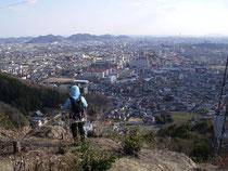 増位山西尾根から姫路市街