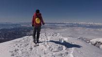 四阿山頂稜にて