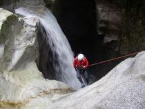 ネジ滝の下降