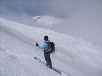 大岳へと登る