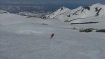 姥ヶ岳を滑る