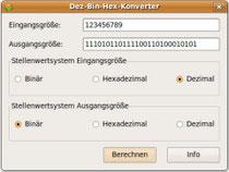 Dez-Bin-Hex-Konverter (Linux)