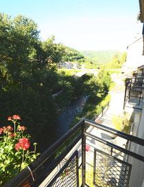 Vue sur la rivière depuis la chambre