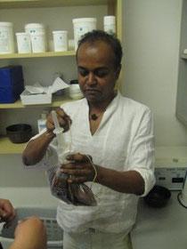 Vorbereitung Kashaya Vasti