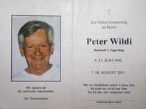 Totenbild Peter Wildi