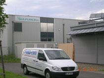 FUSS-EMV Firmensitz in der Nachbarschaft der Soltecture GmbH (ehemals Sulfurcell)