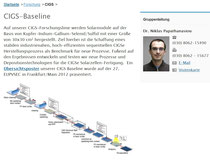 CIGS-Baseline Gruppenleitung: Dr. Niklas Papathanasiou (Homepage PVcomB, 3.2.2014)