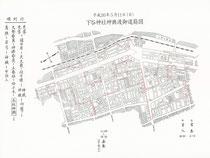 2014年(平成26年)下谷神社例大祭 神輿渡御道筋図