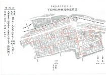 2012年(平成24年)下谷神社例大祭 神輿渡御 道筋図