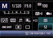 das übersichtliche Canon Quick Menü ist bei allen gängigen Canon-DSLRS ähnlich aufgebaut - von Canon kommend findet man sich sofort zurecht