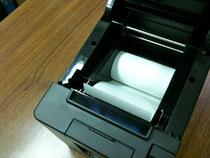 ポンと置くだけでロール紙交換