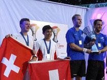 Doppel Herren: v.l. Ivo Junker & Severin Wirth mussten sich nur von den Schweden geschlagen geben.