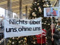 Demo Westbahnhof zum Internationalen Tag der Menschen mit Behinderungen