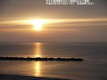 ホテル瀬波観光の夕日