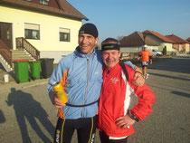 Ernst und Georg glücklich nach 6h