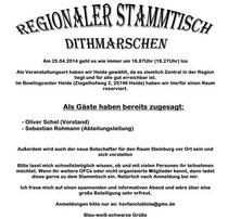 Einladung Regionaler Stammtisch HSV Fanclub 25.04.2014