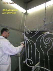 Métallisation au zinc-aluminium
