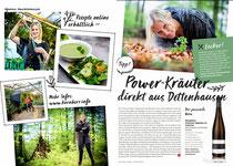 Beitrag über den Kräutergarten KORNHERR in der aktuellen Ausgabe der Weinheimat (geschrieben von feinschmeckerle.de)
