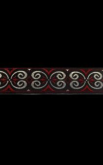 Band 52 - Ornament Bordeaux 25mm