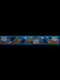 Band 15 -  PLUMA blue 15mm Design: Lila-Lotta Design