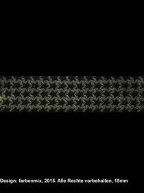 Band 37 - mini staaars grau/schwarz
