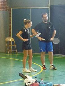 Mélanie et Yannick  lors de leur premier match