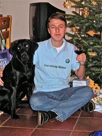 Emily und Philipp unter dem Weihnachtsbaum 2007