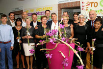 Die Sieger des Turniers mit Meagan Daniels, Werner und Tiny Lonsdorfer (re.). Foto: Blume
