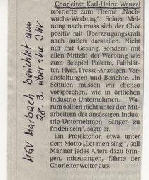 Oberhessische Presse  28.März 2013