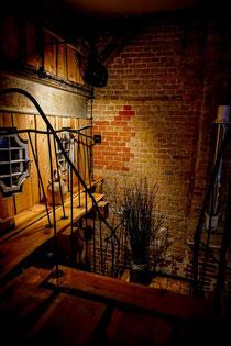 Railing in a loft