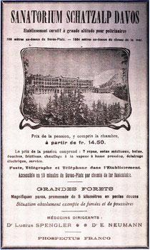 Anzeige Sanatorium Schatzalp