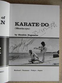 Signatur von Nagamine Takayoshi Soke