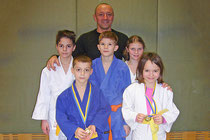 Andreas Schlögl mit seinen Judokas