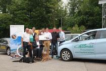 In der Klima- und Energiemodellregion Krems machten Elektroautos auf ihrer Sommertour durch Europa Halt, um ihre Akkus aufzuladen. Foto:zVg