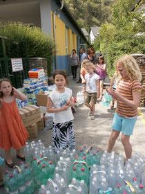 Spendenaktion des Schülerhorts Stein. Foto: Stadt Krems.
