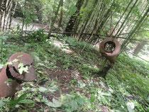 山中に残る日本軍戦車の残骸
