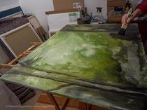 Nasser Hintergrund, Technik für Acrylmalerei, Thomas Guggemos