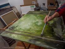 nass in nass Technik mit Acrylfarben, Thomas Guggemos