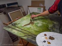 Acrylfarbe grob vormalen, Thomas Guggemos
