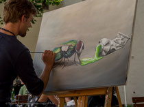 Bildaufbau - plastische Wirkung mit Acrylfarben, Thomas Guggemos