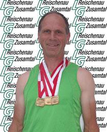 Rainer Hintschich mit 3 x Gold über 800m, 1500m, 5000m.