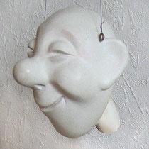Kopf modelliert und bearbeitet