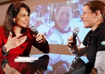 Regula Späni im Gespräch mit der Triathlon-Olympiasiegerin Nicola Spirig